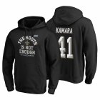 Cheap New Orleans Saints #41 Alvin Kamara 2019 NFC South Division Champions Black Cover Two Hoodie