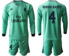 Cheap Real Madrid #4 Sergio Ramos Third Long Sleeves Soccer Club Jersey