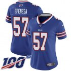 Cheap Nike Bills #57 A.J. Epenesas Royal Blue Team Color Women's Stitched NFL 100th Season Vapor Untouchable Limited Jersey