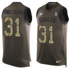 Cheap Nike Eagles #31 Nickell Robey-Coleman Green Men's Stitched NFL Limited Salute To Service Tank Top Jersey