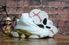 Cheap Kids' Air Jordan 13 Defining Moments Shoes White/Gold-red