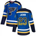 Cheap Adidas Blues #23 Dmitrij Jaskin Blue Home Authentic Drift Fashion Stanley Cup Champions Stitched NHL Jersey