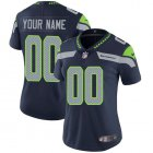 Cheap Nike Seattle Seahawks Customized Steel Blue Team Color Stitched Vapor Untouchable Limited Women's NFL Jersey