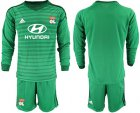 Cheap Lyon Blank Green Goalkeeper Long Sleeves Soccer Club Jersey