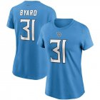 Cheap Tennessee Titans #31 Kevin Byard Nike Women's Team Player Name & Number T-Shirt Light Blue