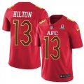 Cheap Nike Colts #13 T.Y. Hilton Red Men's Stitched NFL Limited AFC 2017 Pro Bowl Jersey
