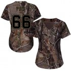 Cheap Reds #66 Yasiel Puig Camo Realtree Collection Cool Base Women's Stitched MLB Jersey