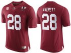 Cheap Men's Alabama Crimson Tide #28 Anthony Averett Red 2017 Championship Game Patch Stitched CFP Nike Limited Jersey