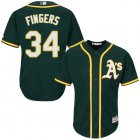 Cheap Athletics #34 Rollie Fingers Green Cool Base Stitched Youth MLB Jersey
