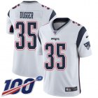 Cheap Nike Patriots #35 Kyle Dugger White Youth Stitched NFL 100th Season Vapor Untouchable Limited Jersey