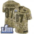 Cheap Nike Patriots #87 Rob Gronkowski Camo Super Bowl LIII Bound Men's Stitched NFL Limited 2018 Salute To Service Jersey