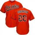 Cheap Orioles #20 Frank Robinson Orange Team Logo Fashion Stitched MLB Jersey