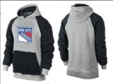 Cheap New York Rangers Pullover Hoodie Grey & Black