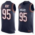 Cheap Nike Bears #95 Richard Dent Navy Blue Team Color Men's Stitched NFL Limited Tank Top Jersey