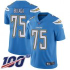 Cheap Nike Chargers #75 Bryan Bulaga Electric Blue Alternate Youth Stitched NFL 100th Season Vapor Untouchable Limited Jersey