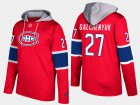 Cheap Canadiens #27 Alex Galchenyuk Red Name And Number Hoodie