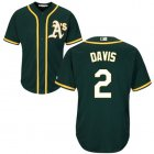 Cheap Athletics #2 Khris Davis Green Cool Base Stitched Youth MLB Jersey