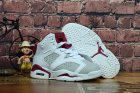 Cheap Kids Air Jordan 6 Alternate Hare White/Grey-Deep Red