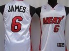 Cheap Miami Heat #6 LeBron James White Kids Jersey