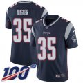 Cheap Nike Patriots #35 Kyle Dugger Navy Blue Team Color Youth Stitched NFL 100th Season Vapor Untouchable Limited Jersey