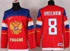 Cheap 2014 Olympic Team Russia #8 Alexander Ovechkin Red Stitched NHL Jersey