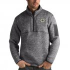 Cheap Green Bay Packers Antigua Fortune Quarter-Zip Pullover Jacket Charcoal