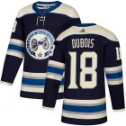 Cheap Adidas Blue Jackets #18 Pierre-Luc Dubois Navy Alternate Authentic Stitched Youth NHL Jersey