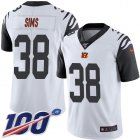 Cheap Nike Bengals #38 LeShaun Sims White Youth Stitched NFL Limited Rush 100th Season Jersey