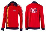 Cheap NHL Montreal Canadiens Zip Jackets orange-2