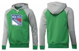 Cheap New York Rangers Pullover Hoodie Green & Grey