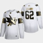 Cheap San Jose Sharks #62 Kevin Labanc Men's Adidas White Golden Edition Limited Stitched NHL Jersey