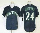 Cheap Men's Seattle Mariners #24 Ken Griffey Jr. Navy Blue Stitched MLB Cool Base Nike Jersey