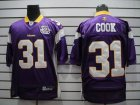 Cheap Vikings #31 Chris Cook Purple Team 50TH Patch Stitched NFL Jersey