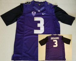 Cheap Men\'s Washington Huskies #3 Jake Browning Purple Limited Stitched College Football 2016 Nike NCAA Jersey