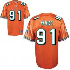 Cheap Dolphins #91 Cameron Wake Orange Stitched NFL Jersey