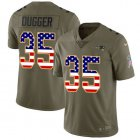 Cheap Nike Patriots #35 Kyle Dugger Olive/USA Flag Youth Stitched NFL Limited 2017 Salute To Service Jersey