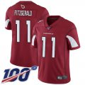 Cheap Nike Cardinals #11 Larry Fitzgerald Red Team Color Men's Stitched NFL 100th Season Vapor Limited Jersey