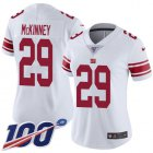 Cheap Nike Giants #29 Xavier McKinney White Women's Stitched NFL 100th Season Vapor Untouchable Limited Jersey