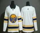 Cheap Youth Buffalo Sabres Blank White With Gold 50th Anniversary Adidas Stitched NHL Jersey