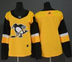 Cheap Adidas Penguins Blank Gold Alternate Authentic Women's Stitched NHL Jersey