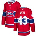 Cheap Adidas Canadiens #43 Jordan Weal Red Home Authentic Stitched NHL Jersey
