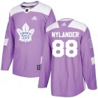 Cheap Adidas Maple Leafs #88 William Nylander Purple Authentic Fights Cancer Stitched NHL Jersey