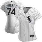Cheap Chicago White Sox #74 Eloy Jimenez Nike Women's Home 2020 MLB Player Jersey White