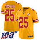 Cheap Nike Chiefs #25 Clyde Edwards-Helaire Gold Youth Stitched NFL Limited Inverted Legend 100th Season Jersey