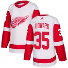 Cheap Adidas Red Wings #35 Jimmy Howard White Road Authentic Stitched Youth NHL Jersey