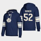 Cheap Toronto Maple Leafs #52 Martin Marincin Blue adidas Lace-Up Pullover Hoodie