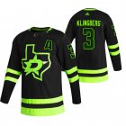 Cheap Dallas Stars #3 John Klingberg Black Men's Adidas 2020-21 Reverse Retro Alternate NHL Jersey