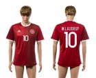 Cheap Danmark #10 M.Laudrup Red Home Soccer Country Jersey