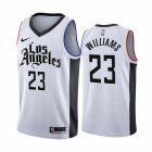 Cheap Nike Clippers #23 Lou Williams 2019-20 White Los Angeles City Edition NBA Jersey