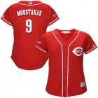 Cheap Reds #9 Mike Moustakas Red Alternate Women's Stitched MLB Jersey